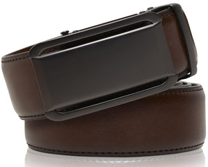 Genuine Leather Ratchet Belt Brown | Access Denied