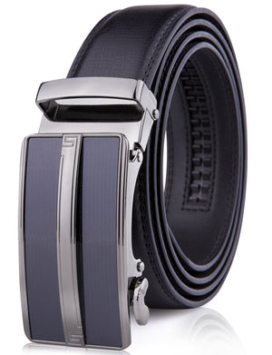 Microfiber Leather Ratchet Belt Black | Access Denied