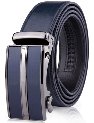 Microfiber Leather Ratchet Belt Blue | Access Denied