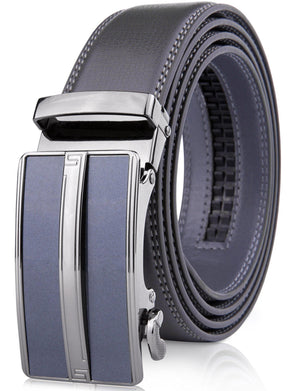 Microfiber Leather Ratchet Belt Gray | Access Denied