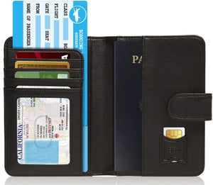 Passport Holder Wallet For Men & Women RFID Blocking Black | Access Denied