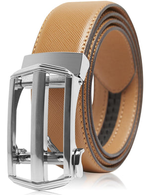 Bonded Leather Ratchet Belts Brown | Access Denied