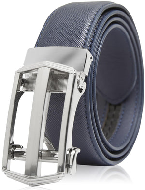 Bonded Leather Ratchet Belts Blue | Access Denied