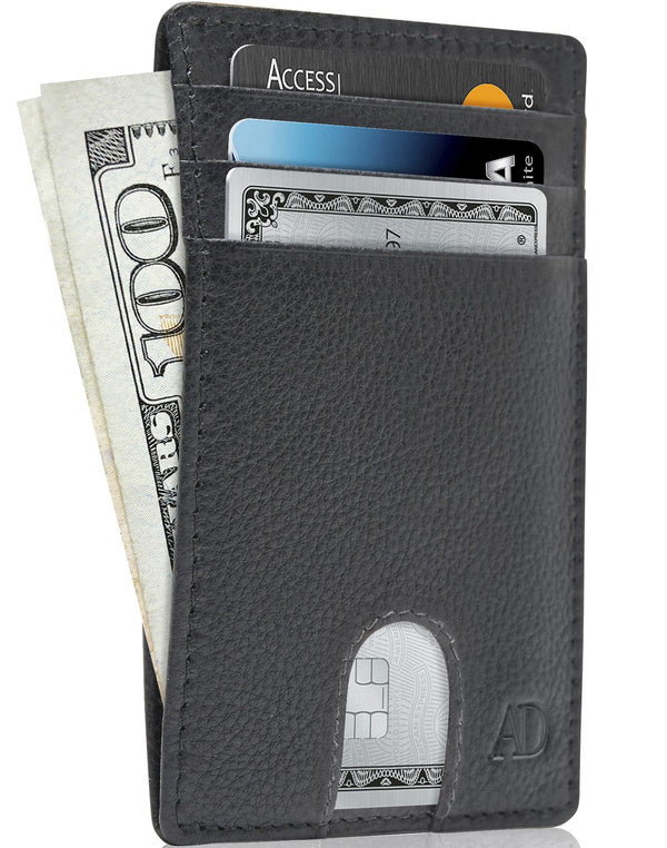 Slim Cardholder With Thumbhole Wallets For Men & Women Black | Access Denied