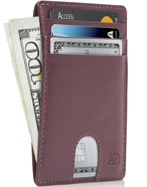 Slim Cardholder With Thumbhole Wallets For Men & Women Mulberry | Access Denied