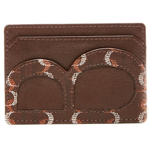 Genuine Leather Slim Brown Cardholder RFID Blocking | Access Denied