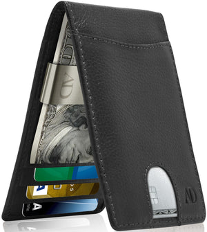 Bifold Wallet With Money Clip For Men RFID Blocking Black | Access Denied