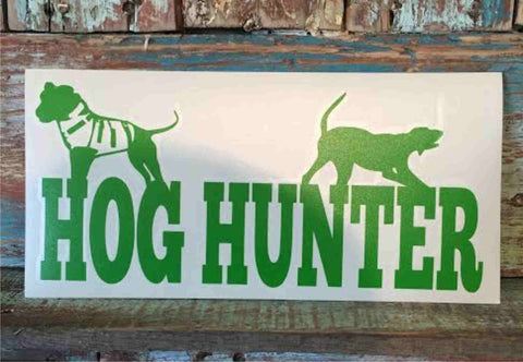 Hog Hunter window decal