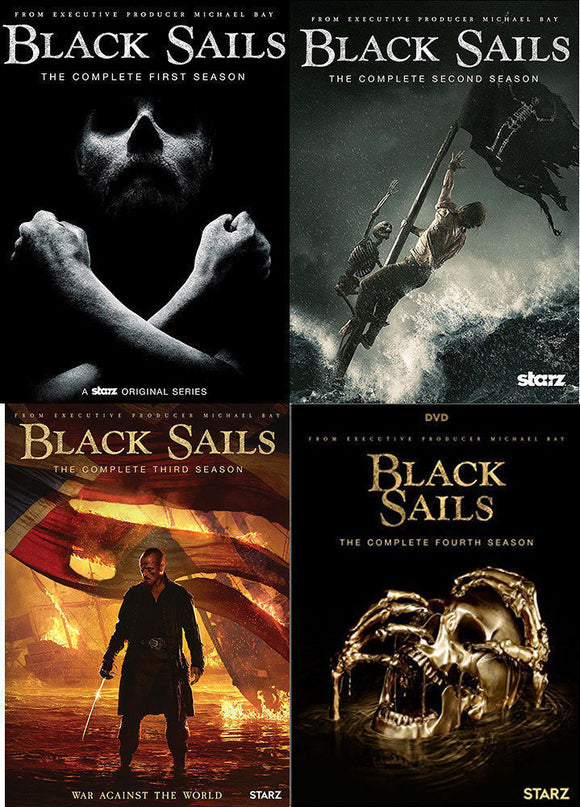 Black Sails The Complete Series Seasons 1-4 1 2 3 4 DVD 2017 Brand New Sealed - FaveShop