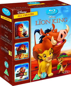 THE LION KING TRILOGY 3-MOVIE COLLECTION BLU-RAY BOX SET REGION-FREE CHILDREN - FaveShop