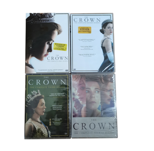 The Crown 1-4 1 2 3 4 2020 DVD Set Brand New Sealed
