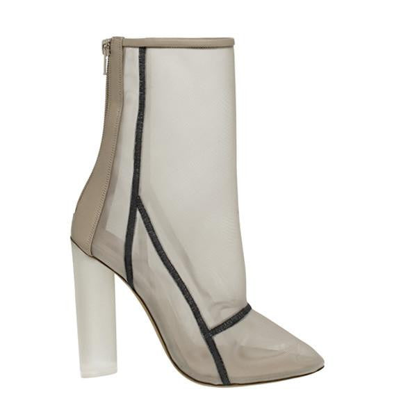 MESH ANKLE BOOT BONE