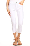 """SALE""  Color Jean Capris  Jeggings - 5 Pockets White, Camel and Grey"