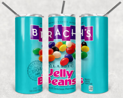 Jelly Beans Brach's 20 oz Skinny Tumbler custom drinkwear - with straw -cup - easter