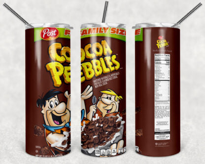 Cocoa Pebbles Cereal 20 oz Skinny Tumbler custom drinkwear - with straw - Water cup