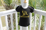 Gold Birthday Girl glitter birthday shirt - fancy boutique girls shirt any number personalized custom