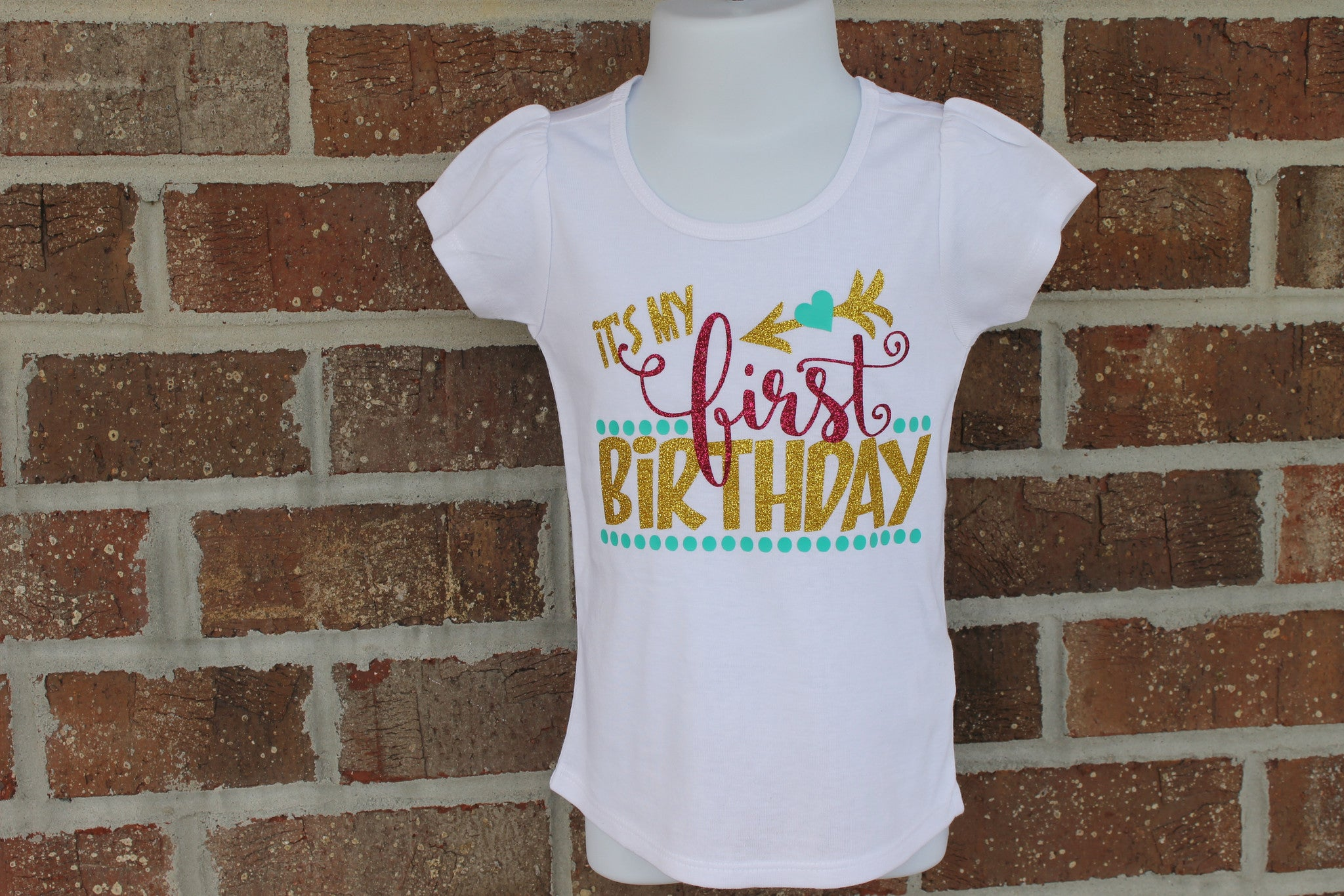 bd309811 ... It's My First Birthday gold and hot pink glitter birthday shirt - fancy  boutique girls shirt