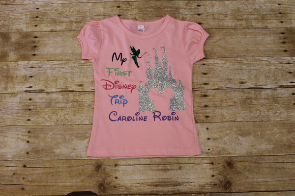 My First Disney Trip shirt - Girls pink Personalized shirt