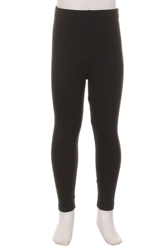 Kids Solid Black super soft Leggings