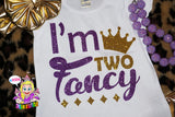 I'm two fancy shirt girls birthday shirt - Gold and Purple