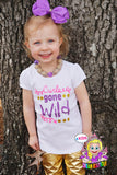 Curls gone wild Shirt- Baby Girl Clothes - Glitter Baby Clothes - Sparkle Shirt
