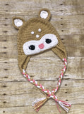 Crochet knit Deer Baby Toddler kids Beanie Hat