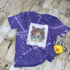 Tiger custom bleached Tee Shirt