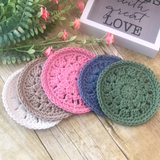 Crochet cotton coasters set of 2, 4, 6 or 8