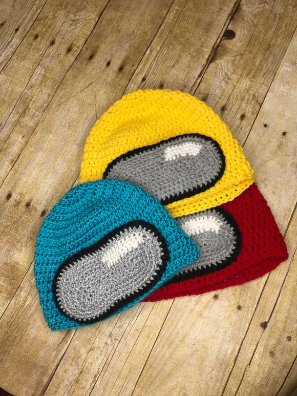Among Us Beanie Hat - handmade crochet kids and adult - Multi colors