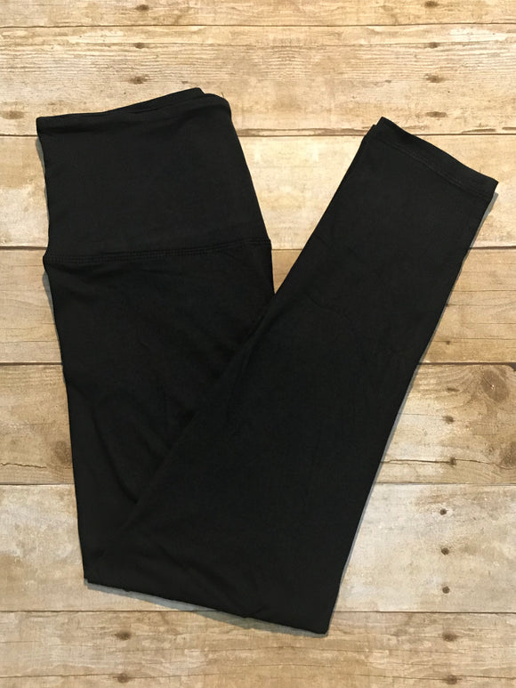 Black solid ultra soft Leggings