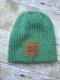 Baby Newborn boys Beanie Hat - handmade - double layer - knitted