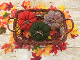 Handmade knitted pumpkins - fall home decorations