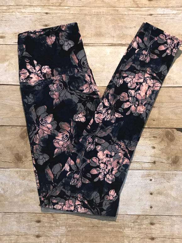 Ladies Floral print ultra soft Leggings
