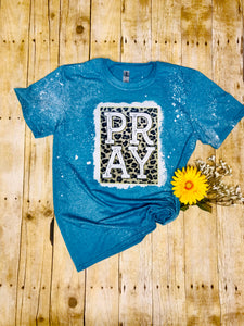 PRAY Ladies print bleached Tee Shirt - Women top - t-shirt