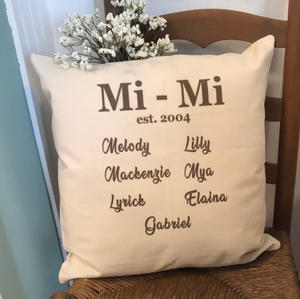 Personalized Pillow Cover - Grandparents