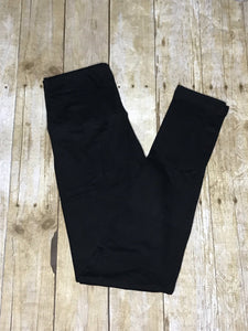 Ladies Solid black ultra soft Leggings - Women's