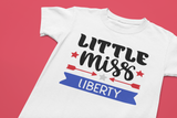 Little Miss or Mister Liberty Kids T-Shirt - All Sizes - Disney Trip top for family- 4th of July