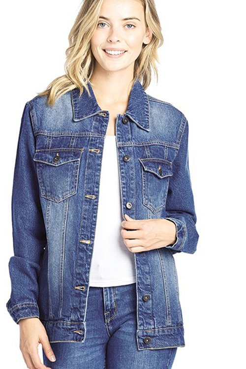 Long Sleeve Button up Denim Jacket
