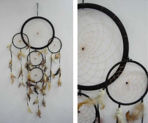 "Beautiful Round 36"" Inches Black Giant Dreamcatcher"