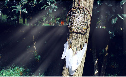 Beautiful White Feather Dreamcatcher
