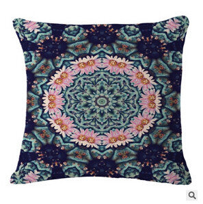 Beautiful Mandala Flower Pillow