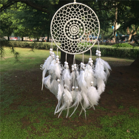 White Round Dreamcatcher