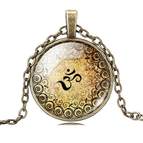 FREE Vintage OM Cabochon Pendant (Just Cover Shipping)