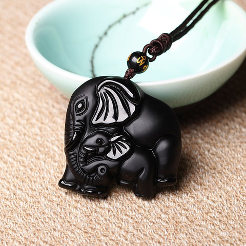 Mother And Son Elephant Pendant