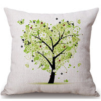 Flower Colorful Tree Pillow