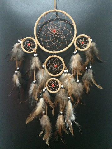 "Beautiful 20"" Beige Dreamcatcher"