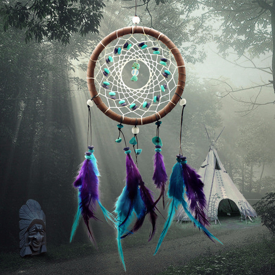 Enchanted Forest Turquoise Dreamcatcher