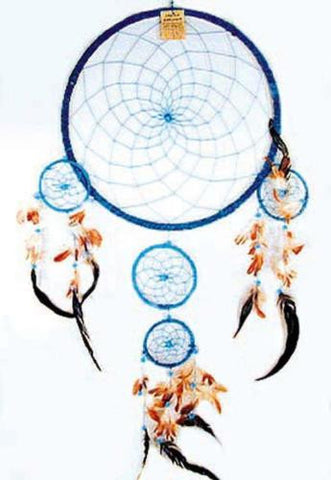 Beautiful Blue Giant Dream Catcher, 36 inches