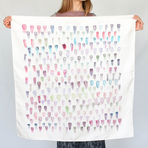 Watercolor Dot Scarf