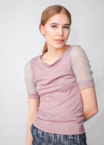 Mauve Summer Sweater